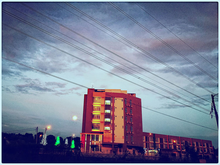 Scenery around my house. Building Exterior No People City Cloud - Sky Sky Outdoors Architecture Skyscraper Day Scenery Of The Town House HuaweiP9 Tree Architecture Sunset Outdoor