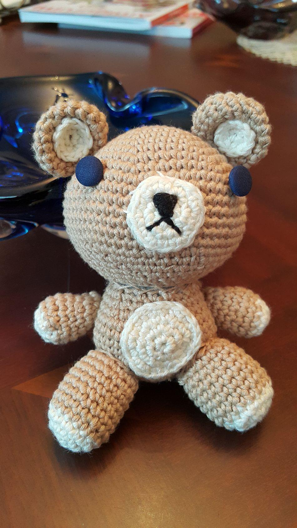 Amigurumi Crochet Teddybear Tedybear Toy Handmade Toy Bear Cotton Wool Bamboo Wool