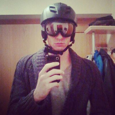 Ready to be a #cyborg :p. Stolen things from my brother for snowboarding Cyborg