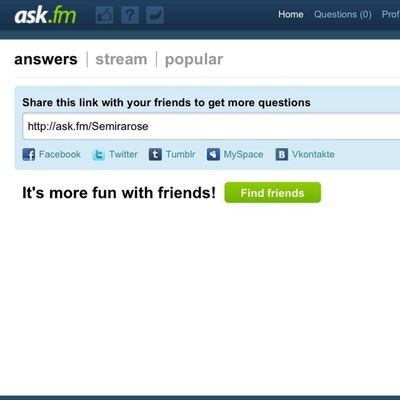 http://ask.fm/Semirarose ask me questions