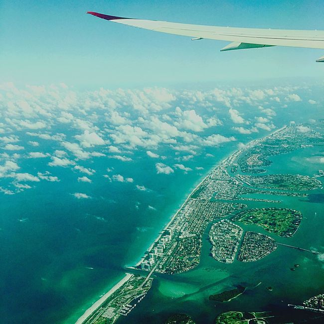 Virgin Atlantic Miami Spring Airborne View From Above