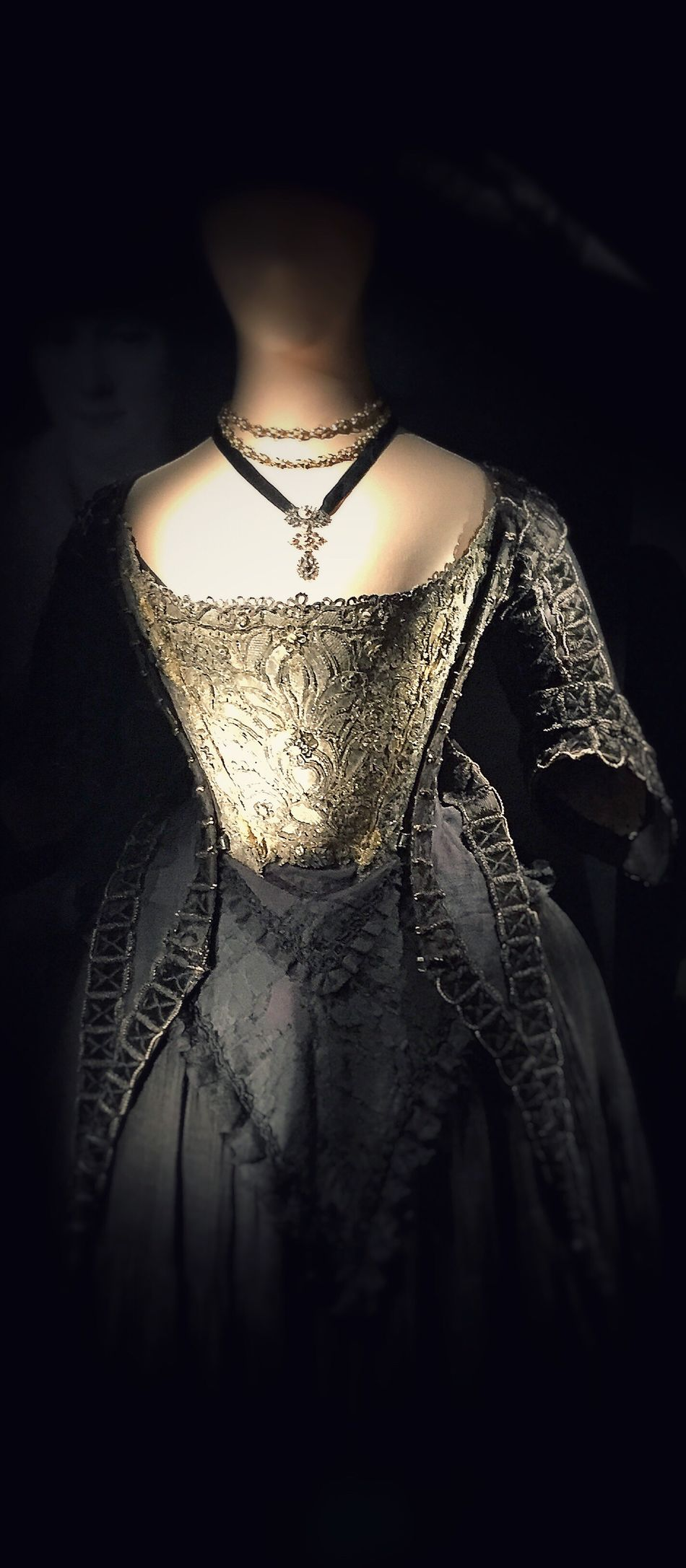 Did you see her? The ghost behind the dress?😳 Dress Renesance Black Dress Ghost Photography Tadaa Community Vacation Strasbourg France Alsace Old Dress Mysterious Scary Embroidery Embroidered