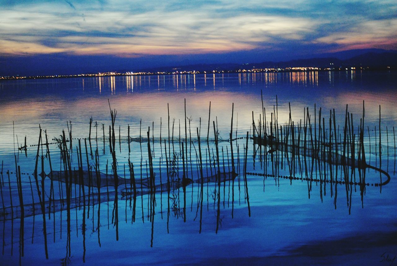 reflection, water, sky, cloud - sky, tranquil scene, tranquility, nature, lake, scenics, outdoors, no people, beauty in nature, sunset, day