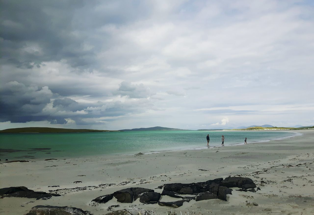 Beach Horizon Over Water Cloud - Sky Scotland Travel Destinations Scottishbeach Clachan Clachansands Traigh Lingeigh Uist Isleofuist Dramatic Sky Pastel Colored Scottish Isles Hebridies The Great Outdoors - 2017 EyeEm Awards EyeEmNewHere Scotlandlover Outerhebrides Westernisles Live For The Story Tranquil Scene Out Of The Box Nature Beauty In Nature