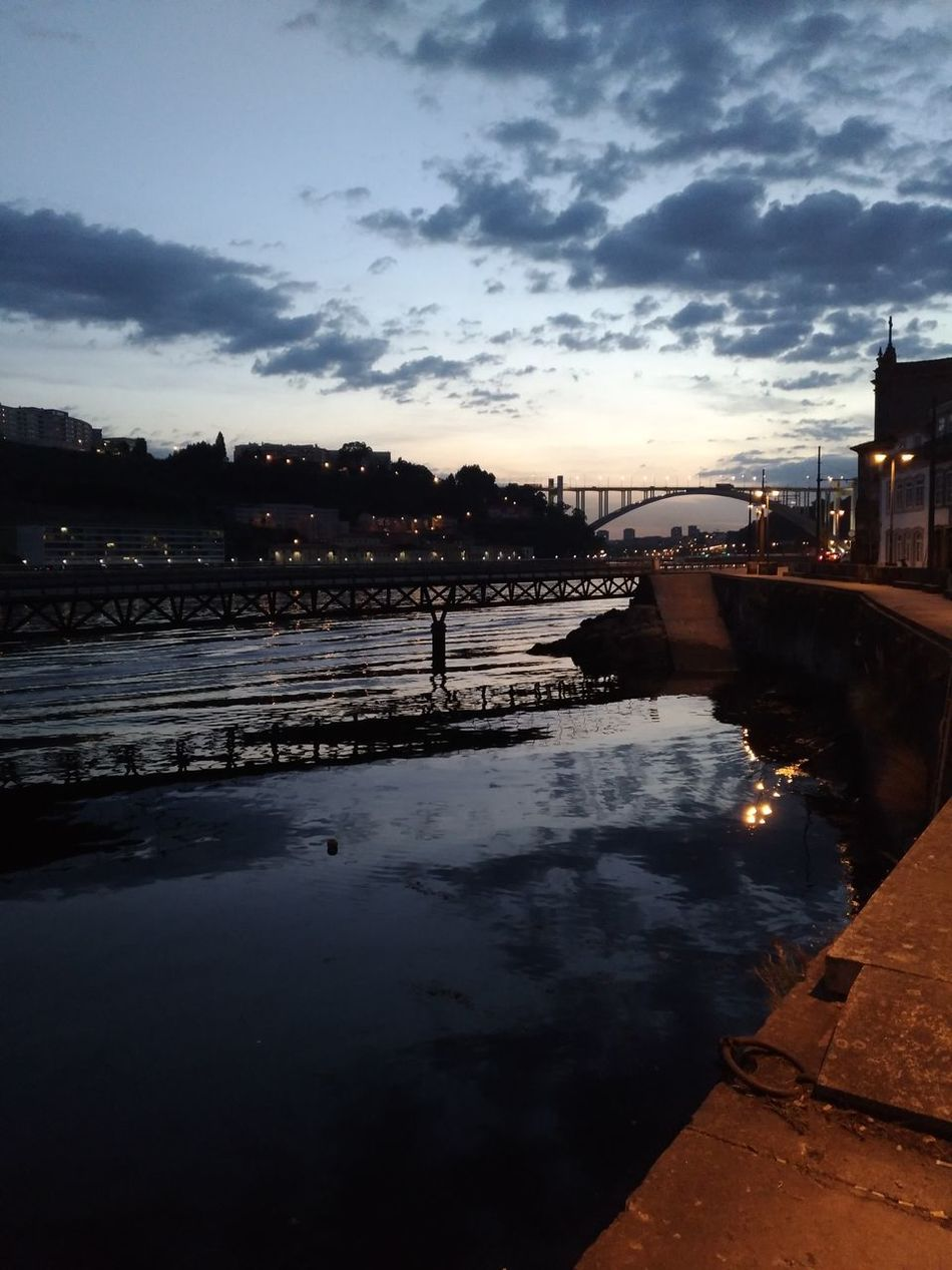 Sky Clouds River Douro  Sunset Porto Bridge Portrait Portugal Reflection Cloud - Sky Water Tranquility No People Outdoors Lake Landscape Night Star - Space Nature City Astronomy