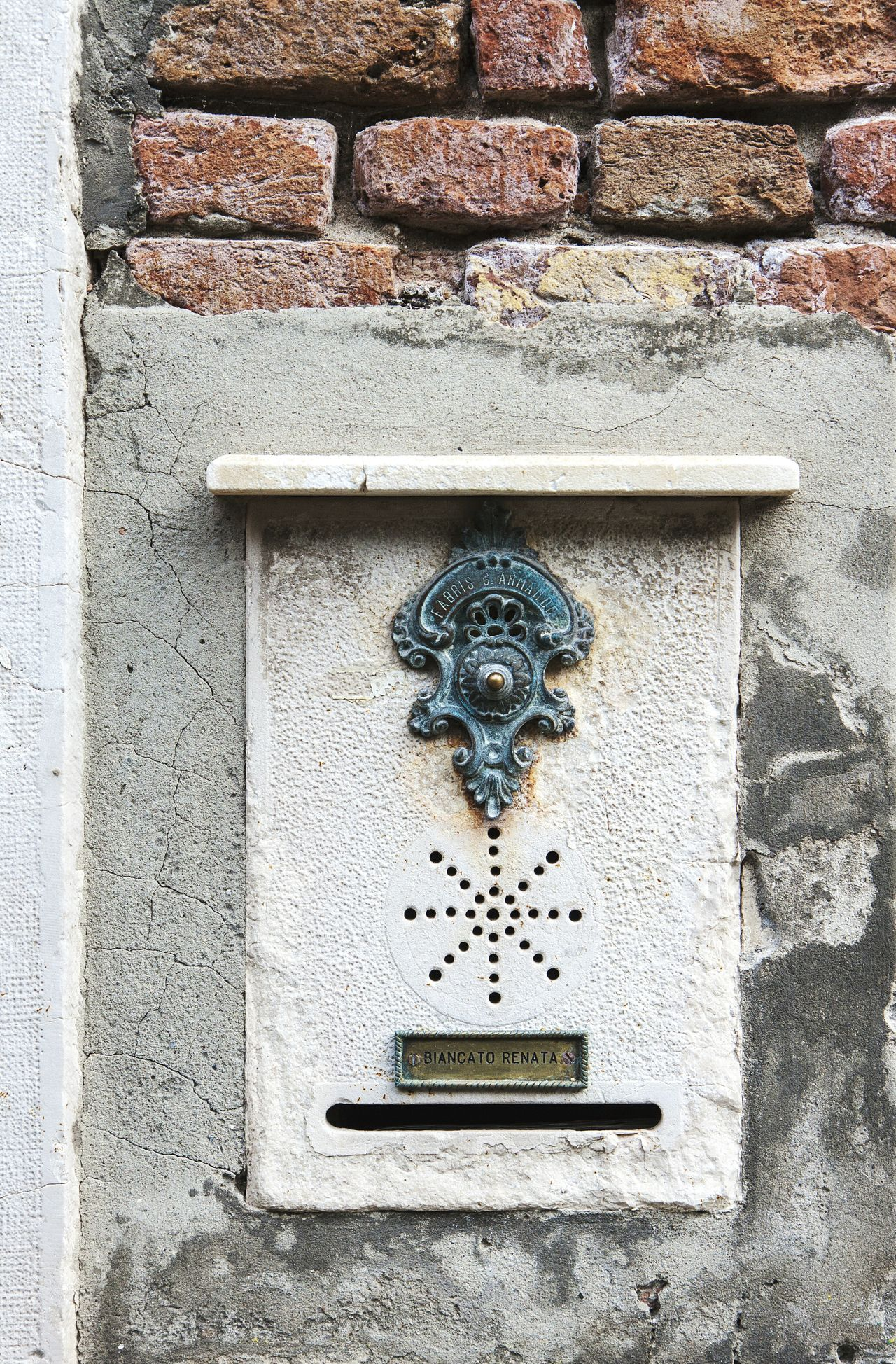 Venice Italy Europe Traveling Architecture Detail Buzzer Ringer Button House Exterior Facades
