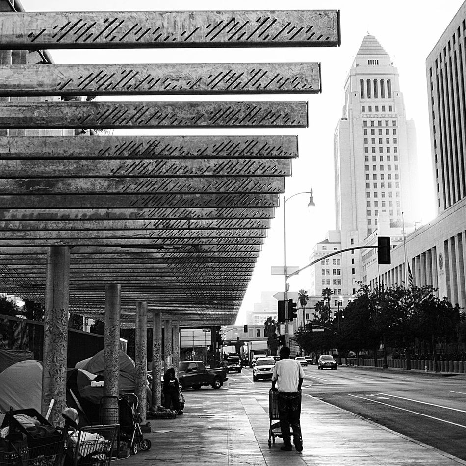 the side of the La City Hall DTLA Everything In Its Place LosAngelesCity Getty X EyeEm People Watching Peoplephotography People Photography Streetphotography Street Photography Streetphoto_bw My Favorite Photo Black & White Blackandwhite Photography Black&white Urban Life Homeless The Social Society Wellbeing Welfare Monochrome Poverty Poverty Lives. Street Life