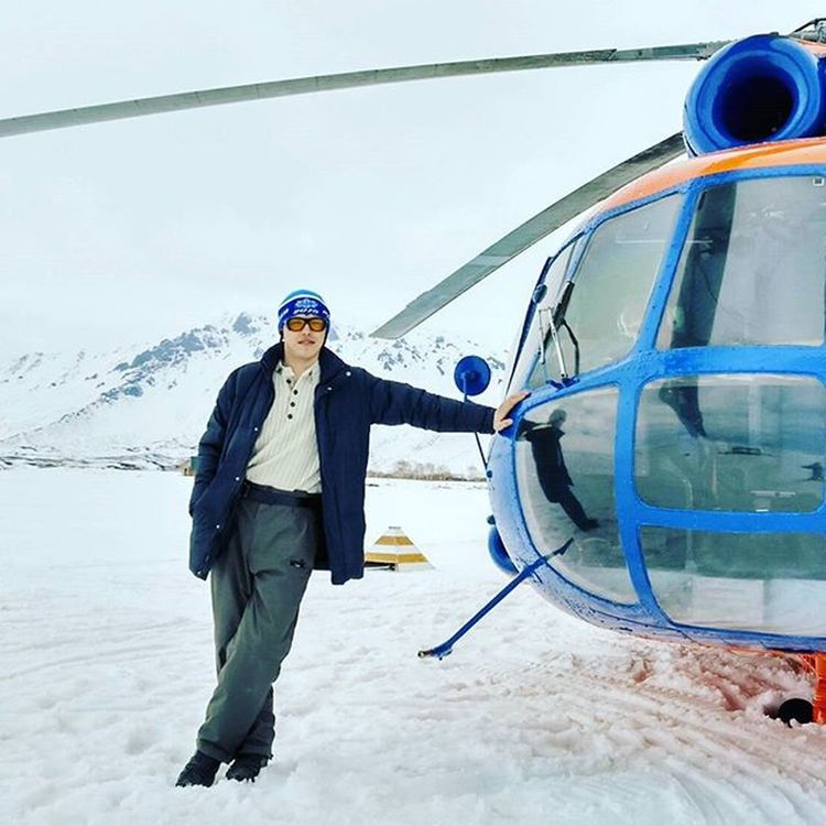 Май. Первая посадка на узоне.камчатка Узон ми8 Вертолет
