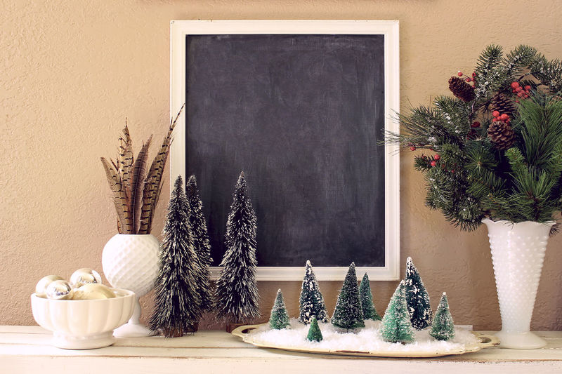 Christmas backdrop Blank Poster Chalk Board Christmas Domestic Life Holidays Home Interior Home Showcase Interior Indoors  No People Scenics Tree Winter Scene