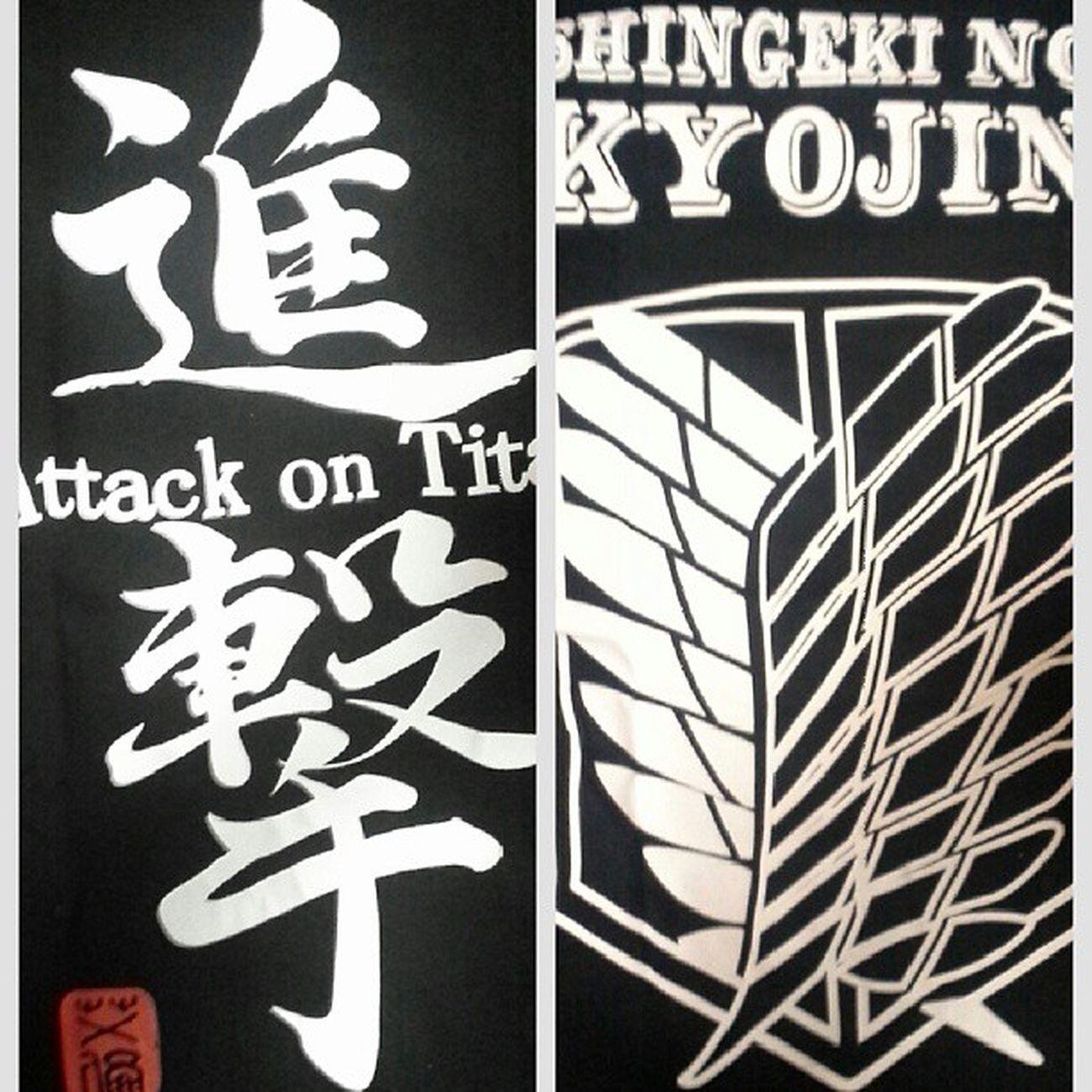 「進撃の巨人」のシャツ ShingekinoKyojin Attackontitan #進撃の巨人 Snk Aot animemerchandise animeshirt ScoutingLegion ReconCorps WingsOfFreedom JiyuuNoTsubasa #自由の翼