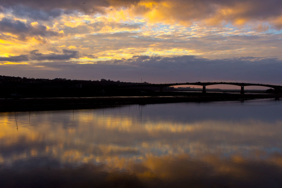 Taw Estuary - Barnstaple Architecture Beauty In Nature Bridge Cloud - Sky Day Dusk Lake Nature No People Outdoors Reflection Scenics Silhouette Sky Sunset Tranquil Scene Tranquility Travel Destinations Tree Water