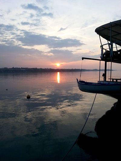 Sunset Beauty In Nature Tranquility Lake Garda