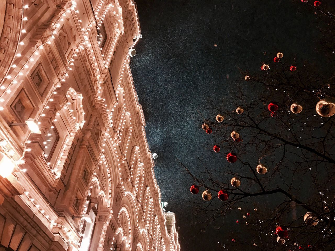 Moscow Celebration Night Tree No People Motion Outdoors Sky Nature Astronomy Outdoor Photography Culture EyeEmNewHere Travel Destinations Walking Around The City  Illuminated Built Structure Low Angle View City Life Scenics Winter
