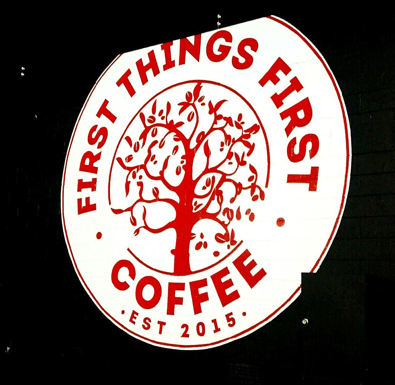 First Things First Coffee Shop Sign Cafe Coffee Koffee Est. 2015 Coffee ☕ Signs Signporn Signage Signs, Signs, & More Signs Signs_collection Signs & More Signs Signstalkers SIGNS. SIGN. Coffee Sign Signcollection Coffeeshop Coffeehouse Coffeeporn Illuminated Signs