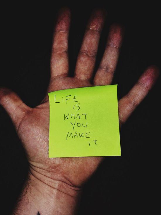 Hand Life Enjoying Life