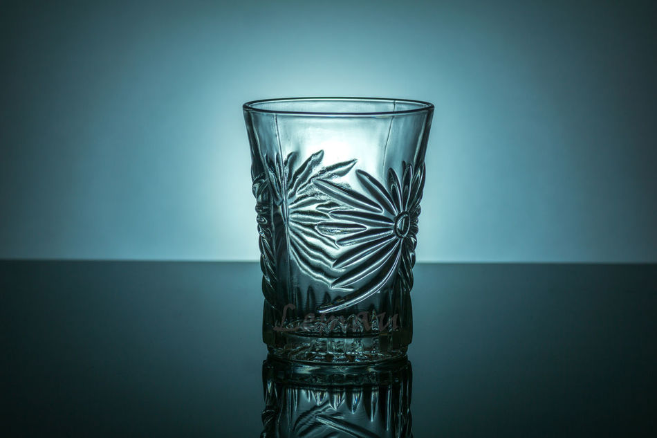 Low Key background lighting for glass bottle's Beauty Blue,white, Clear,conceptual,conce Dark G Glass,low,background , Cup,water,gradient, Isolated Studio Shot Transparent