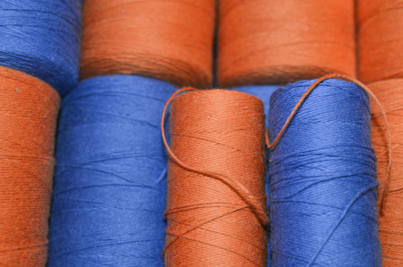 Blue Blue Color Blue Threads Close-up Complementary Colors Creativity Has No Limits Fiber Arts Orange Color Orange Thread Thread Weave Weaving