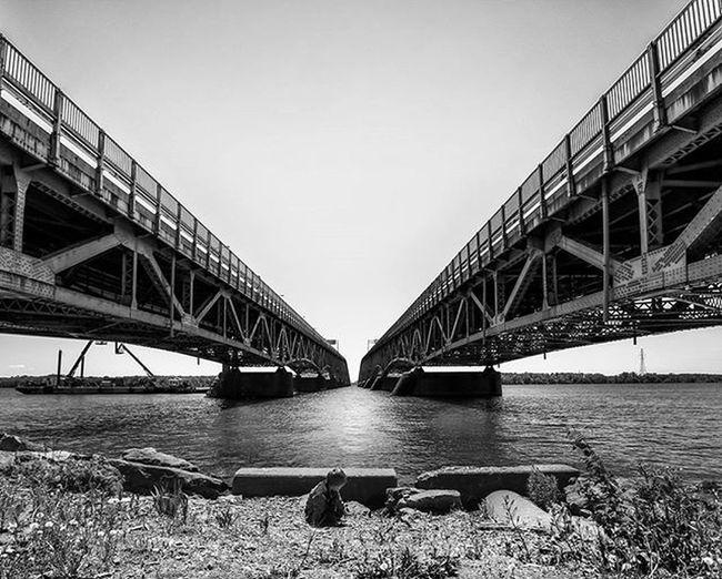 Feeling Small Grandisland Buffalo Buffalony Buffalove Onebuffalo Bridge Bridges Monochrome Blackandwhite Bnw Monochromatic POTD Photooftheday Leadinglines