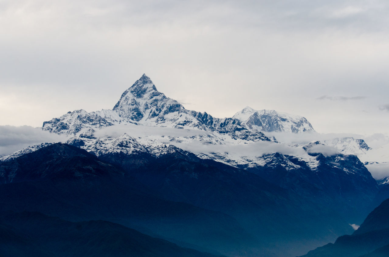 Beautiful stock photos of annapurna, nature, cold temperature, sky, no people