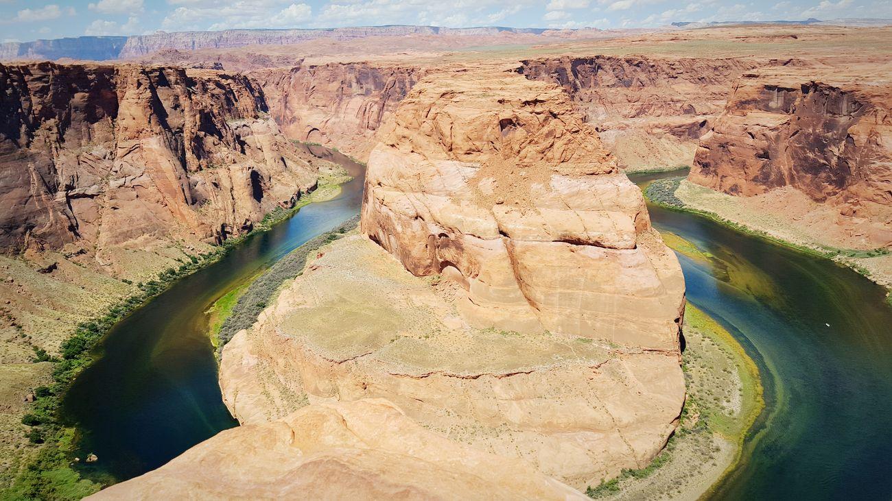 Arizona Winding River Horseshoe Bending Red Rocks  Desert Dry Hot Weather Contrast