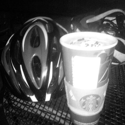 Even when the riding is over the riding isn't over. Stayfixed Thefixedlife Starbucks Bikes coffee peppermintmocha amazing love swag yolo hashtag