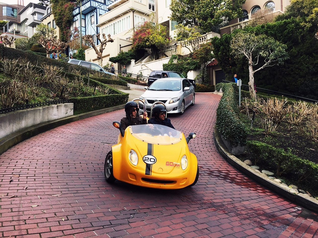 Sanfrancisco Blackandwhite Streetphotography Lifestyles People Transportation City Perspective Ziczac Street Hill Lombard Street Fun Attraction