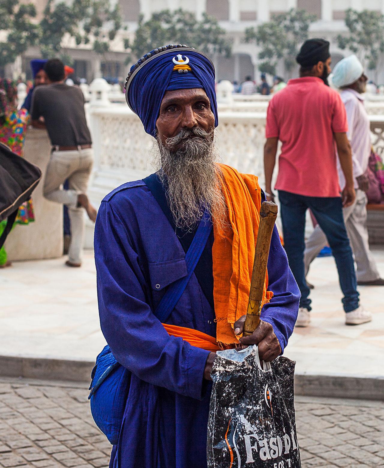 Fascinating guru sikhs Lifestyles Males  Beard Adults Only Men Adult City People Only Men Outdoors Human Body Part Day India Indian Sikh Sikhism Guru Gurudwara Golden Temple Amritsar Punjab Portrait