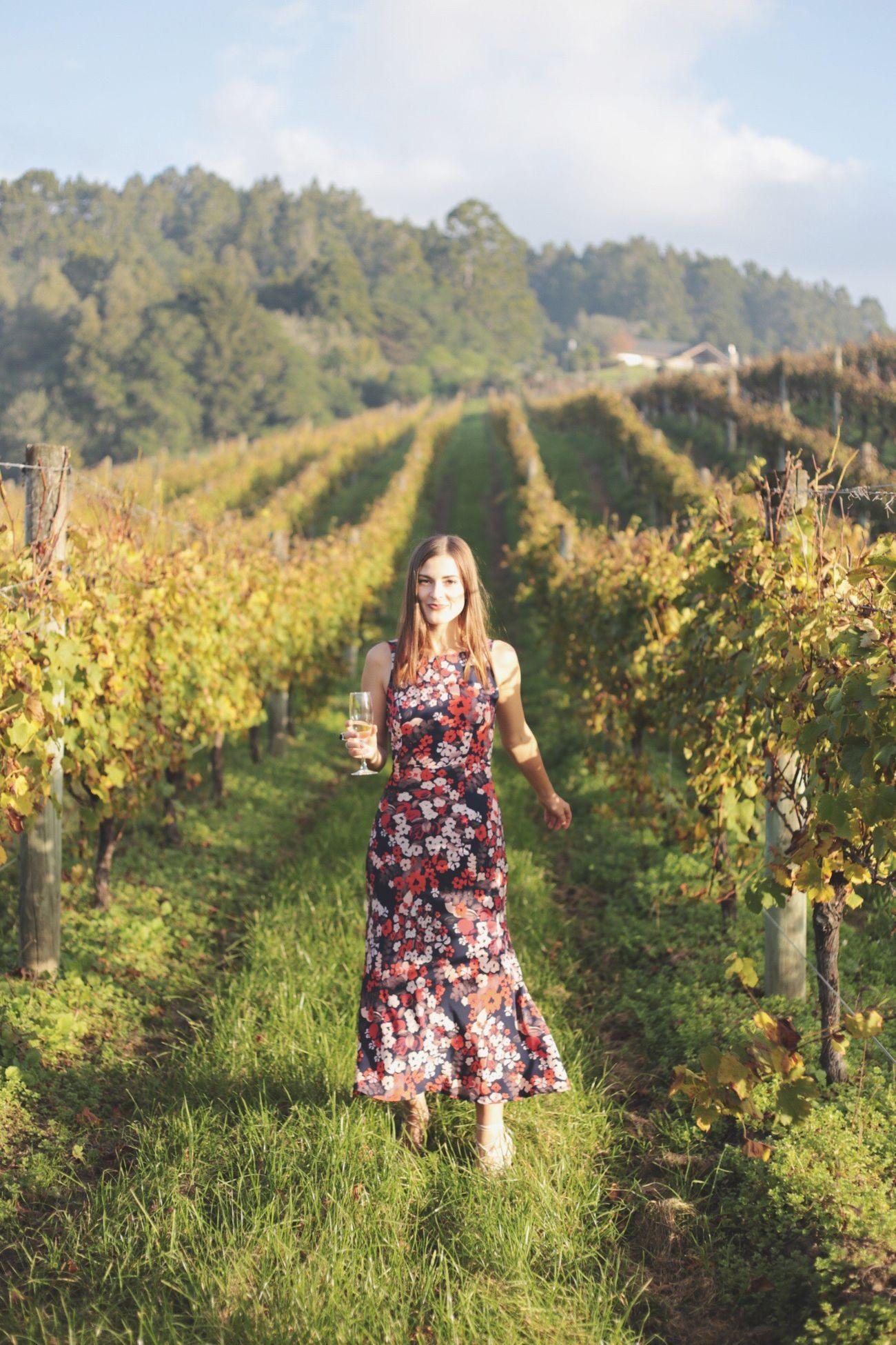 Vineyard Young Women One Person Grass Nature Wine New Zealand Matakana  Outdoors Wedding