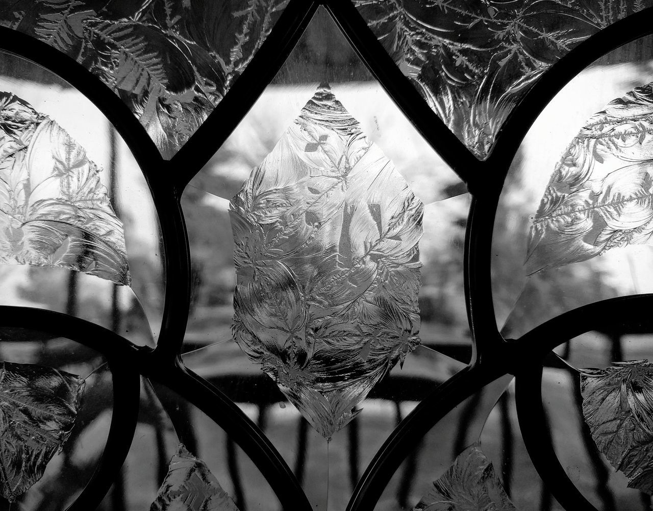 through the etched glass door Taking Photos Let's Do It Chic! Decorative Textures And Surfaces Eyemphotography Smart Complexity My Photography Etched Glass Bnw_collection Blavk And White EyeEm Bnw No People Respect For The Good Taste EyeEm Gallery Stillife Photographic Memory Pattern Pieces