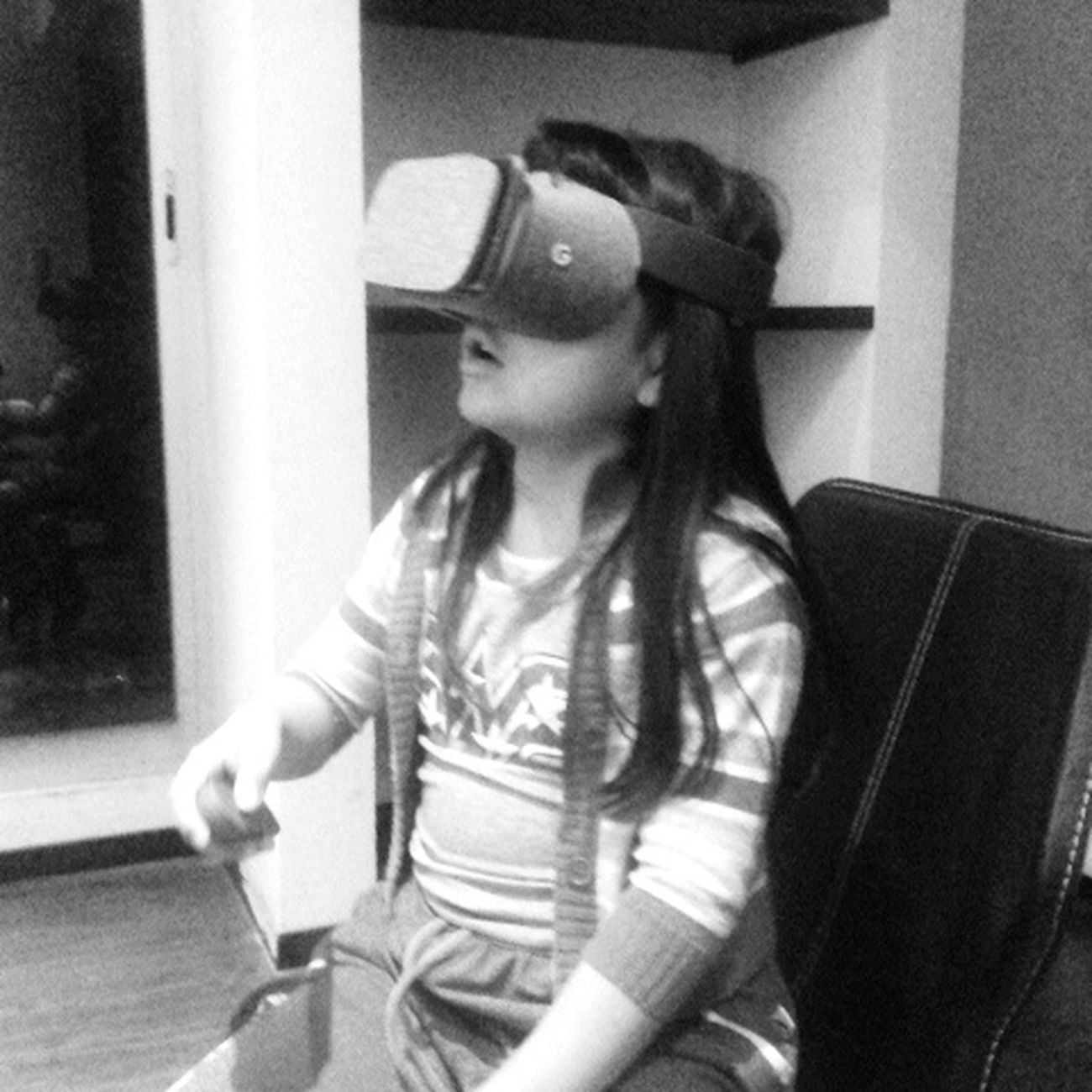 Home Interior Indoors  Taking Photos One Girl Only One Person Childhood Vr Daydream Kids And Technology Google Google Daydream