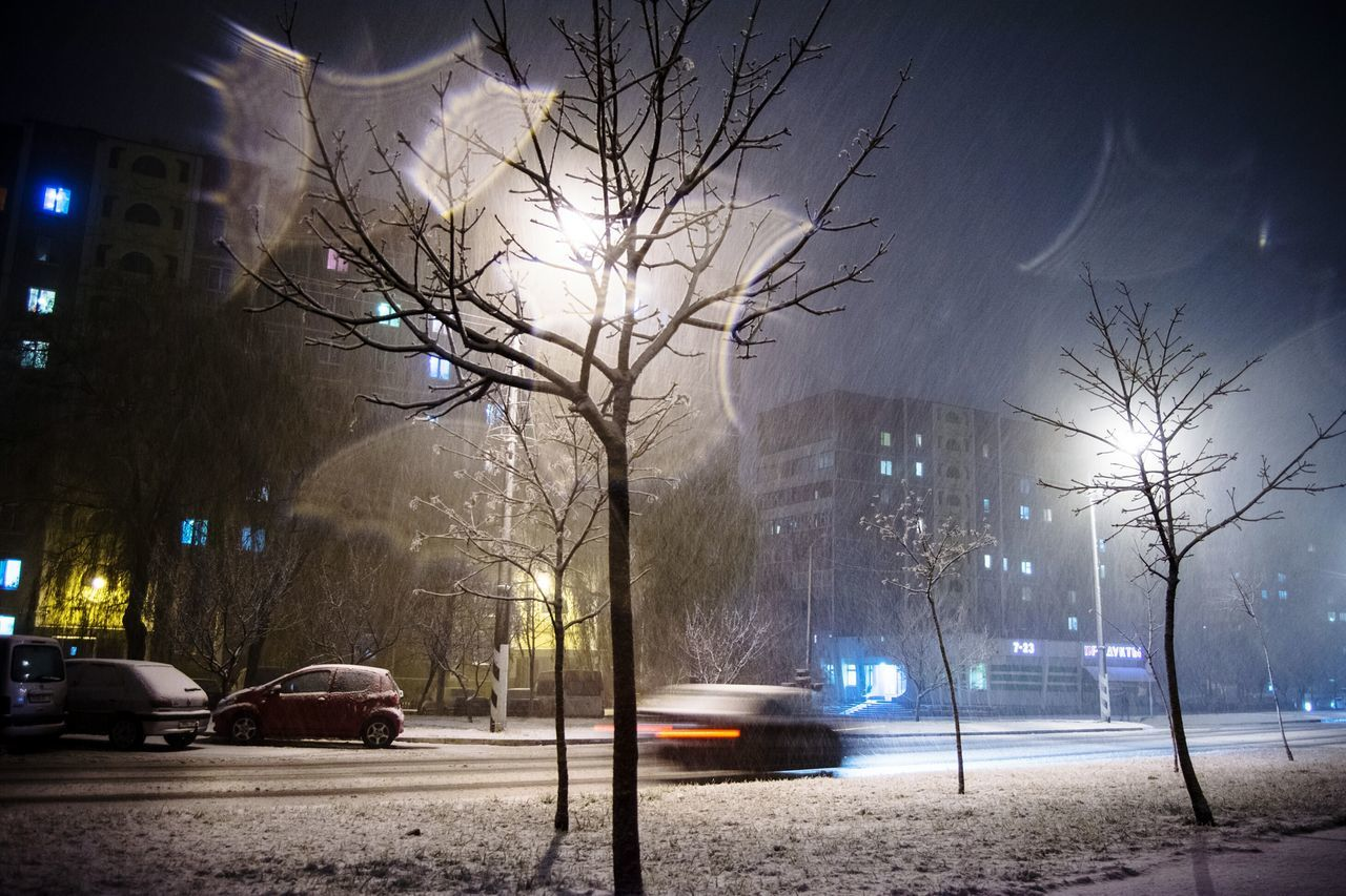Again snowfall Night Street Light Illuminated Snowfall Early Winter Road City Life Transportation Car Outdoors Night Lights Street Light Open Edit By Ivan Maximov Snow ❄ Exceptional Photographs Street Photography Photo Of The Day Freshness Our Best Pics Wether Mazyr Belarus Winter Belarus Winter 2016 Adapted To The City