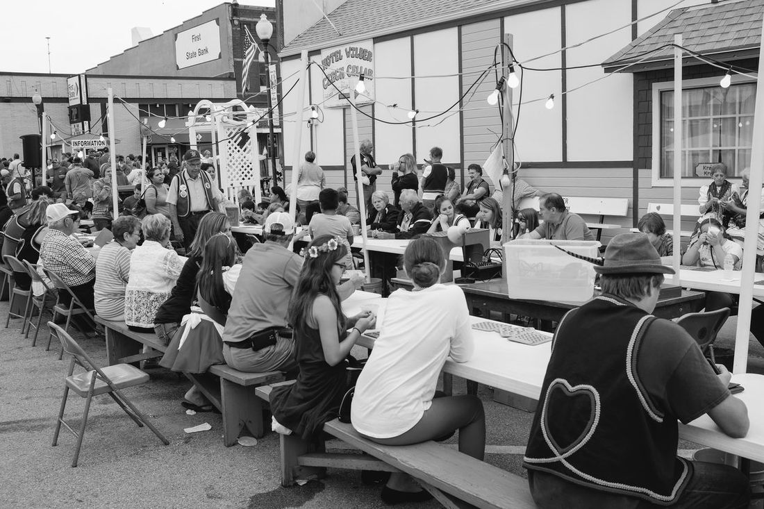 56th Annual National Czech Festival - Sunday August 6, 2017 Wilber, Nebraska Americans Bingo Players Czech EventPhotography EyeEm Best Shots FUJIFILM X100S Nebraska Photo Essay Small Town America Storytelling Traditional Clothing Visual Journal Wilber, Nebraska Architecture Building Exterior Built Structure Chair City Culture And Tradition Czech Days Czech Festival Day Large Group Of People Men Monochrome Outdoors People Photo Diary Real People Sitting Small Town Stories Streetphoto_bw Traditional Festival Women