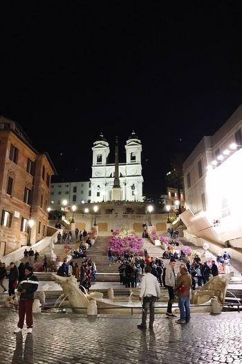 Trinita dei Monti by night Citylights Roma Italy❤️ Roadtrip