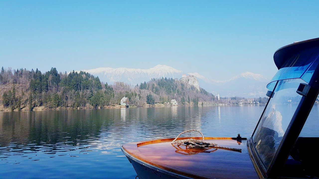 Day dreaming of my travels in slovenia. Bled was insanely beautiful with a castle hanging to a cliff! Water Nautical Vessel Lake Reflection Sky Mountain Nature Transportation Clear Sky Day No People Outdoors Scenics Beauty In Nature Tree Astrology Sign Slovenia Bled, Slovenia Bled Lake Slovenia BledCastle Bled Castle