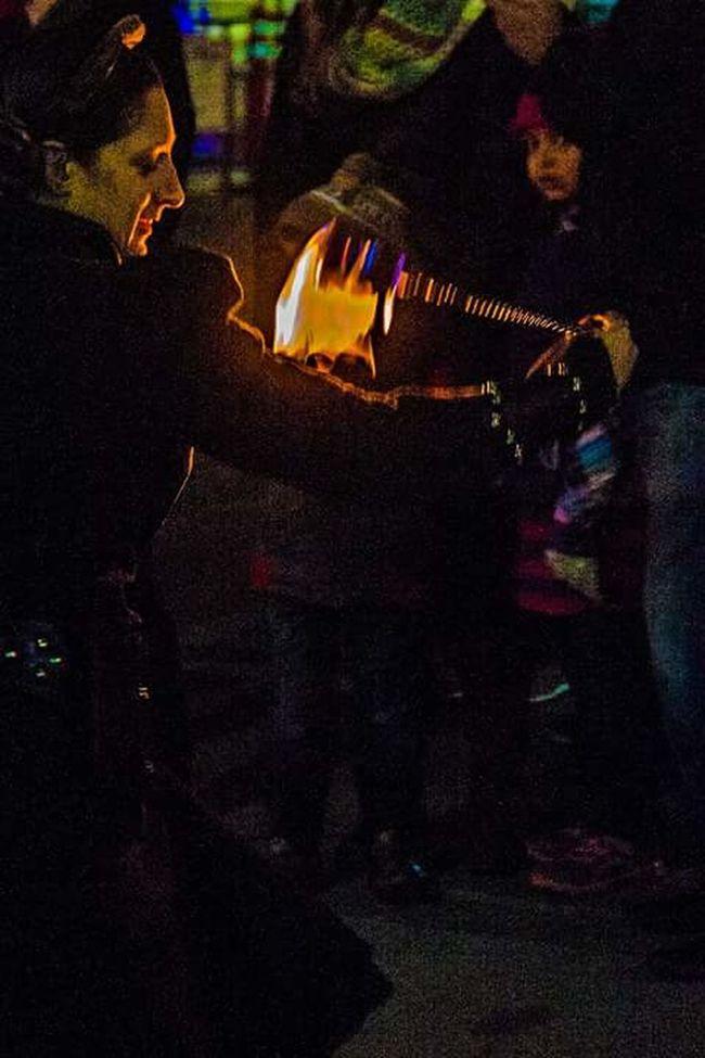 Illuminated Creativity Night Dark Multi Colored Person Colorful Fire Dancer