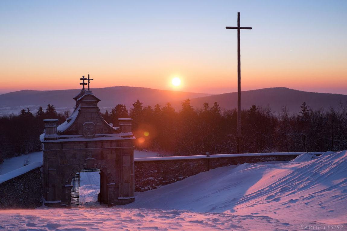 Architecture Cold Temperature Fujifilm Góry świętokrzyskie Landscape Mountain Snow Sunrise Winter Polska
