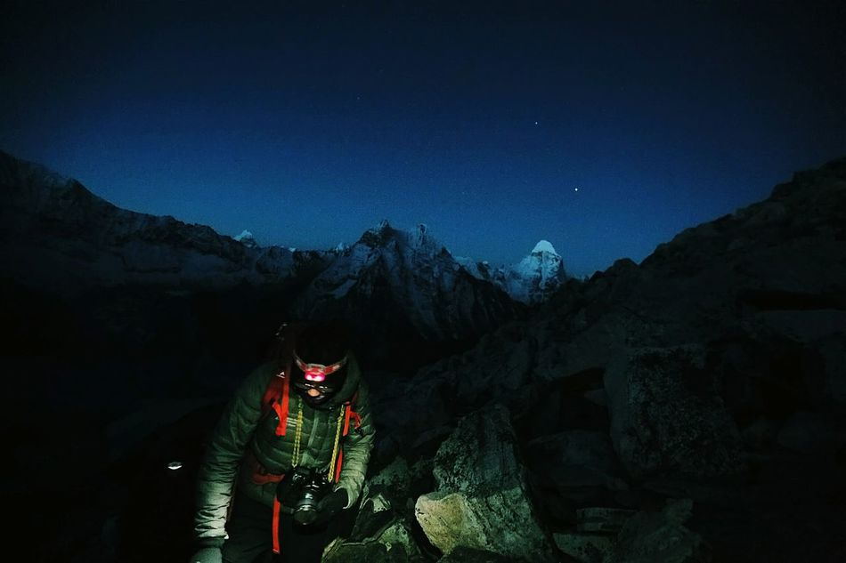 Cities At Night our city is our mountain. Imja Tse summit attack. Himalaya Expedition