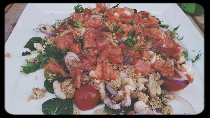 started with my Mediterranean diet. My Salad