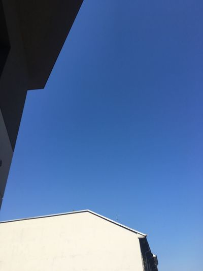 Minimalist Architecture Clear Sky Low Angle View Building Exterior Copy Space Architecture Blue Built Structure No People Outdoors Day Sky Taking Picture From The Window At Home EyeEmNewHere Break The Mold BYOPaper!