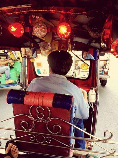Feel The Journey Bangkok Thailand. Tuktukdriver Crazy Moments Exploring New Ground