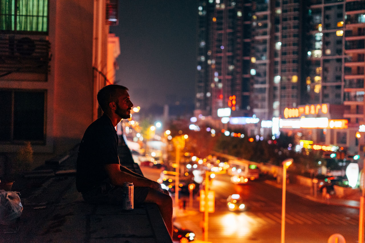 My Year My View City Night Illuminated Winter Cityscape One Person City Life Outdoors Urban Skyline Urban China ASIA Travel Exploring Style