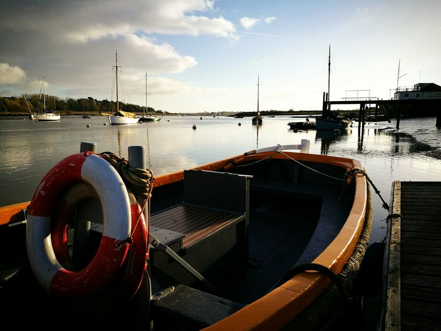River Deben Nautical Vessel Outdoors Sky Boats And Water Water Landscape Photography Deben River, Suffolk Cloud - Sky Harbor Low Perspective