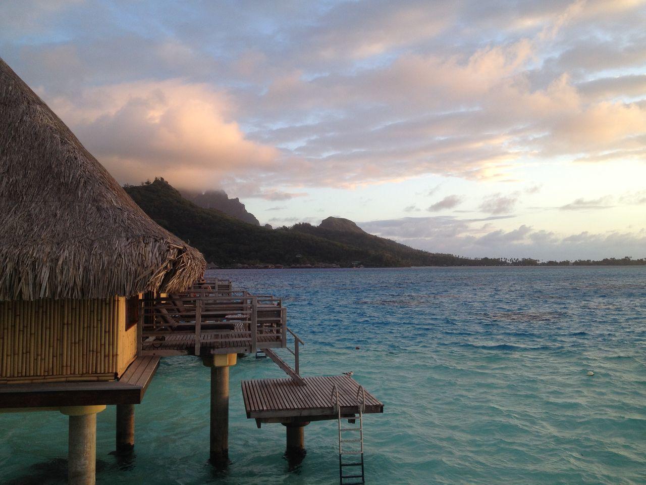 Beautiful stock photos of bora bora, Architecture, Beauty In Nature, Bora Bora, Built Structure