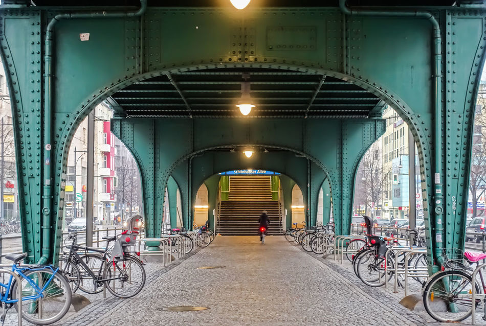 Architecture Berlin Photography Berliner Ansichten Bicycle Bridge - Man Made Structure Connection Day No People Outdoors Parked Prenzlauer Berg Transportation Tunnel Urban Urban Exploration Viaduct Viadukt