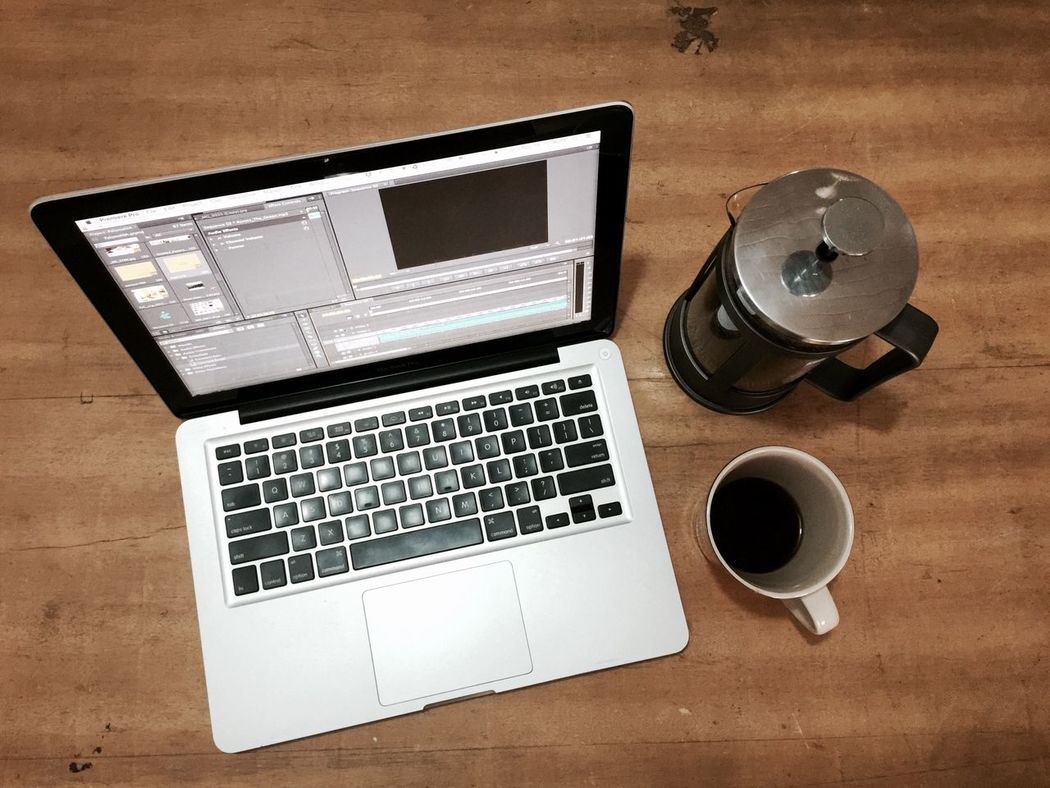 Freelance Life Coffee Time What's On Your Mind? Table Food And Drink MacBookPro