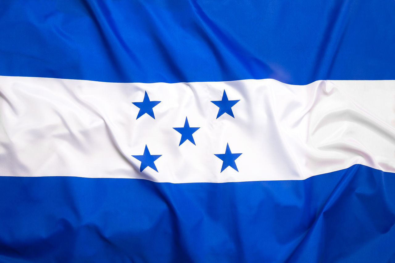 Blue Close-up Cultures Day Flag Honduras Indoors  Middle America No People Pride Star Shape Symbol Symmetry White Color