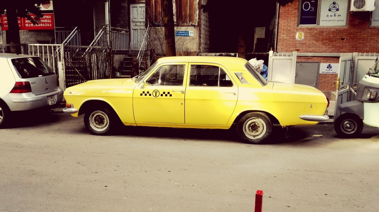 Old soviet taxi Car Taxi Yellow Taxi Old Vehicle