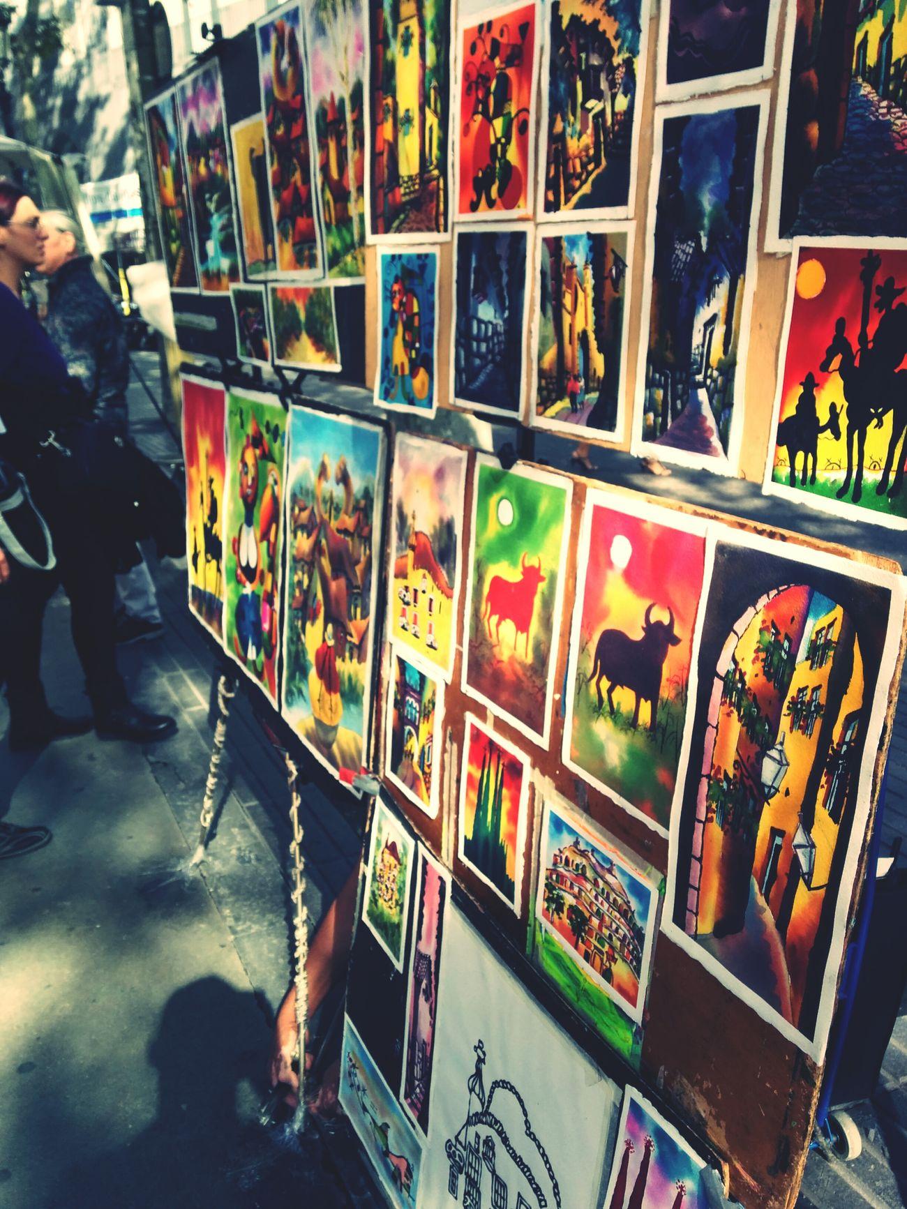 La Rambla Barcelona Katu Taiteilijoita Aitoespanja