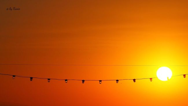 Sunset Orange Color Sun Silhouette Atmosphere Tranquil Scene Sky Beauty In Nature Vibrant Color Solitude Outdoors The Great Outdoors - 2016 EyeEm Awards Capture The Moment EyeEm Best Shots Sky_collection Color Photography Sunlight Sunshine