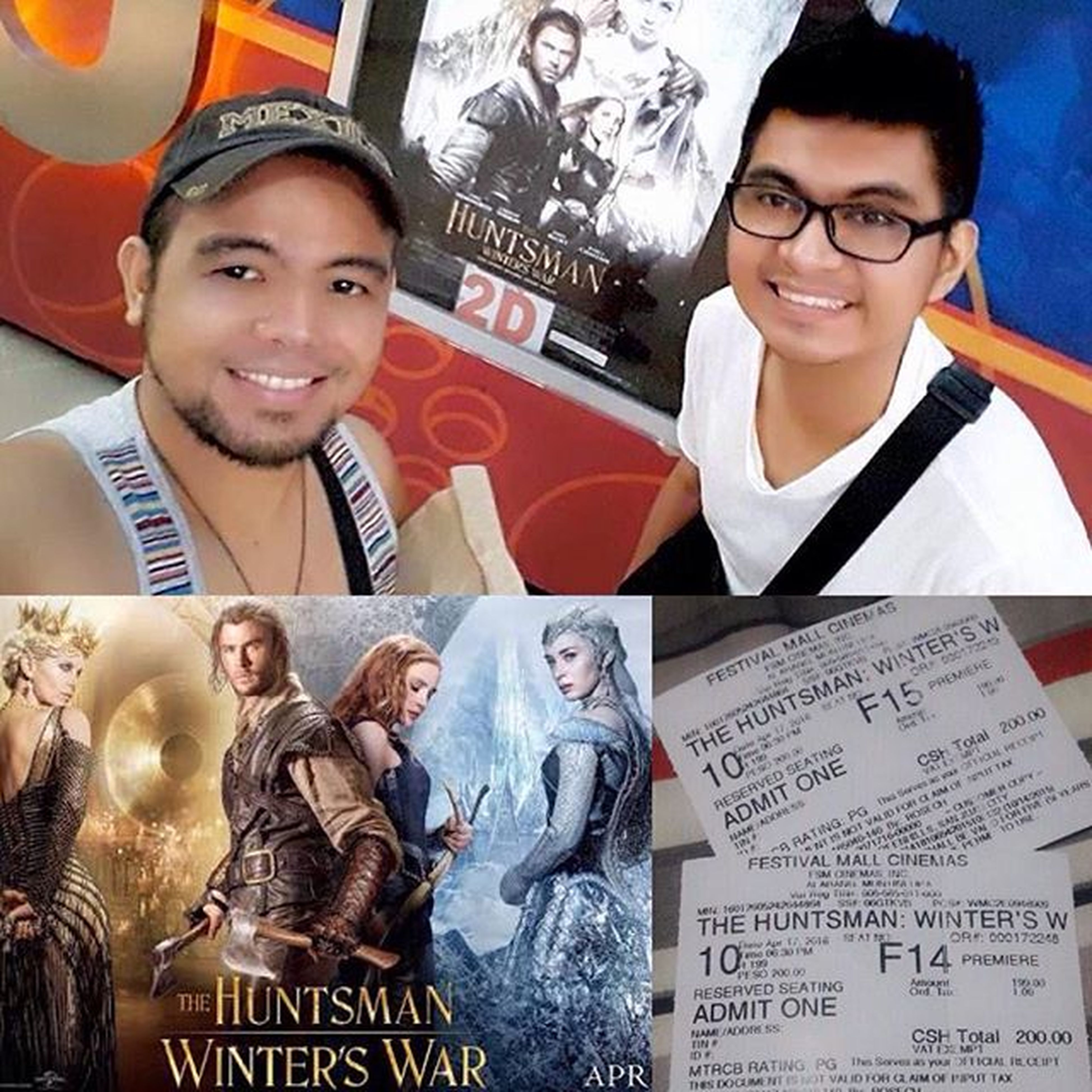"""Done watching """"The Huntsman, Winter's War""""... I've a few not so good reviews about it but I actually liked it. It may not be as romantic as """"Snow White and The Huntsman"""" but the twist in this classic fairy tale makes it exciting. Worth watching for me, right @ed.gamboa? MovieAddicts SundayMovieDateNight Lovewins Mine 😊❤️👬🎞📽"""